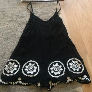 mika and gala Dresses - Black embroidered romper
